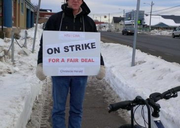 Walking the picket line in Sydney, Cape Breton