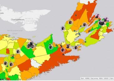 Interactive map documents environmental racism in Nova Scotia