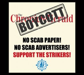 News brief: Labour Federation calls for consumer boycott of Herald advertisers