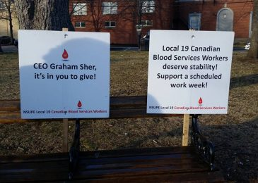 Striking PEI blood collection workers reject employer's latest offer