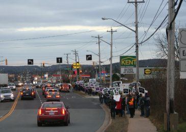 Teachers rally in Lower Sackville