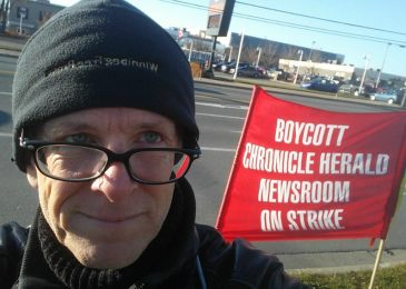 A year is a really long time. Walking the Herald picket line in Sydney, Cape Breton
