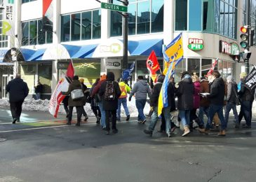 Beating back the Timmie's attack – Another $15 and Fairness rally in Halifax