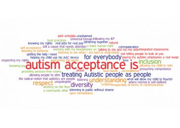 Autism awareness or acceptance?  Two very different mindsets
