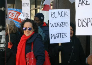 Media Advisory: Continued action at Founders Square. Baristas join picket. Marie Clarke Walker to speak at rally