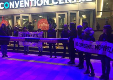 Media release: Liberal convention after-party interrupted by Kinder Morgan opposition