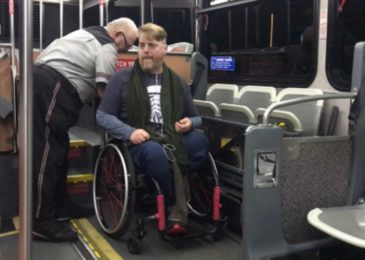 Strapped, hooked and tied. Paul Vienneau writes on taking a wheelchair on the bus