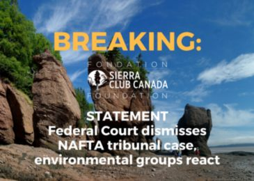 Statement: Federal Court dismisses NAFTA tribunal case, environmental groups react