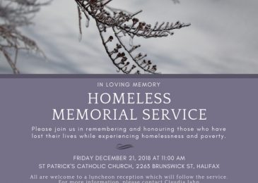 PSA: You are invited to the Halifax Homeless Memorial Service – December 21st