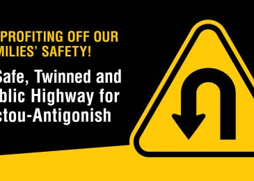 Media release: Public Town Halls June 4-5 in Antigonish and New Glasgow to discuss the twinning of Highway 104