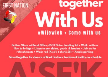 PSA – A'se'k: On October 4 walk together with us