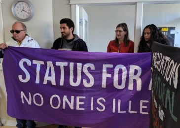 News brief: Rally at Andy Fillmore's campaign office to end migrant detention and provide status for all