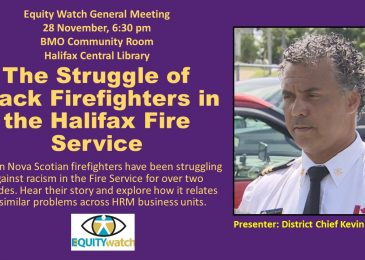 PSA: Thursday, November 28, The struggle of Black firefighters in the Halifax Fire Service