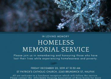 PSA: Homeless memorial service