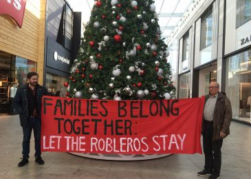 Press release: No One is Illegal stages anti-deportation protest at Halifax mall