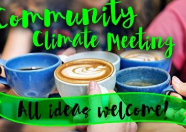 PSA: Community climate meeting, Sunday February 2