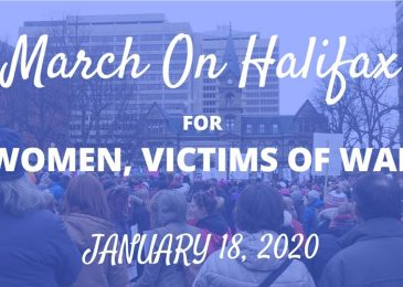 Press release: Halifax Women's March – Victims of War rally, Saturday January 18