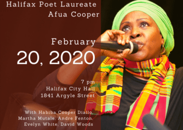 PSA. The power of poetry: Celebrating Halifax Poet Laureate Afua Cooper