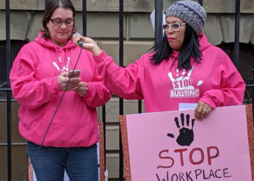 Rally at Province House calls for protection against workplace bullying