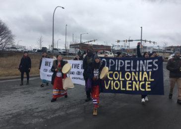 Press release: Halifax blockade in solidarity with Wet'suwet'en land defenders