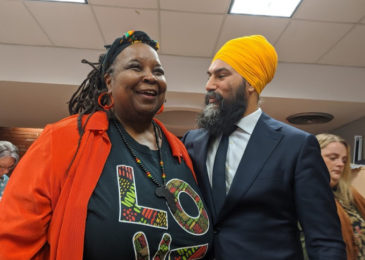 NDP leader Jagmeet Singh apologizes to Dr. Lynn Jones and the African Nova Scotian community for historic slight