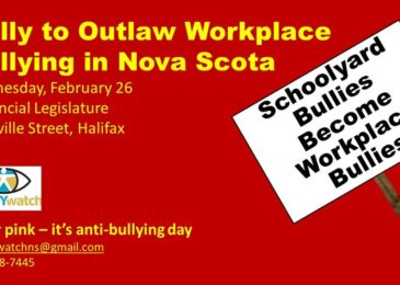 PSA: Rally to outlaw workplace bullying in Nova Scotia