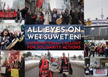 Snap solidarity rally for Wet'suwet'en