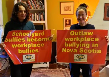 Media advisory: Rally at Province House Wednesday 1 pm to demand legislators outlaw workplace bullying