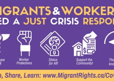 Media release: Migrant justice groups across Canada demand that income supports be available to all