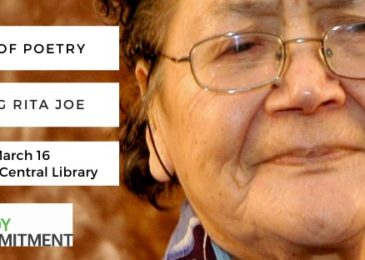 PSA: The power of poetry: Celebrating Rita Joe. POSTPONED!