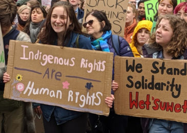 Students in Halifax walk out in support of Wet'suwet'en land defenders