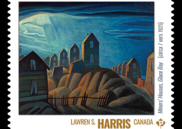 "Lawren Harris' ""Miners' houses, Glace Bay"""