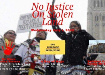 PSA: No justice on stolen land