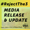 Media release: Dalhousie Board of Governors, hear our call, students reject the 3