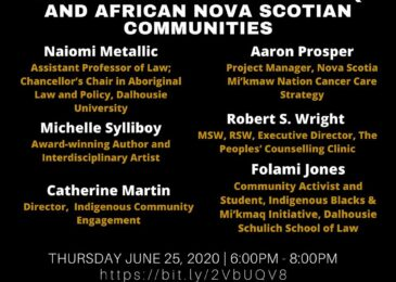 PSA: Speak Truth to Power: Forum on the impacts of systemic racism on Mi'kmaq and African Nova Scotian communities