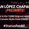 Media Release: Calls for permanent resident status intensify as third migrant farmworker dies of COVID-19 in Ontario