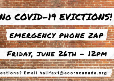 PSA: Stop COVID evictions – Emergency phone-in today!