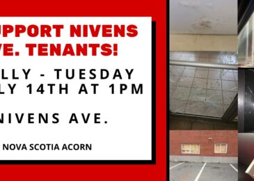 Media release: Illegal evictions, dangerous repairs, and substandard living conditions on Nivens Ave. as tenants and ACORN fight back