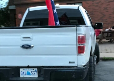News brief: Truck flying confederate flag in Wolfville grim reminder that symbols of white supremacy must be banned