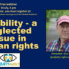PSA: Free webinar: Disability, a neglected issue in human rights, July 8, 4 pm