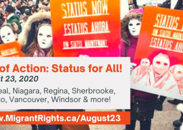 Media advisory: #StatusForAll migrants –  Poster series to launch in Halifax for cross-country days of action