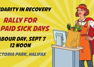 PSA: Labour Day rally – Ten paid sick days for all!