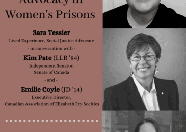PSA: Criminal Justice Speakers Series – Social justice advocacy in women's prisons