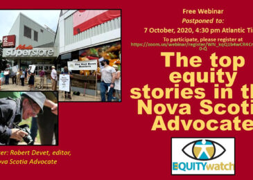 PSA: Free webinar – The top equity stories in the Nova Scotia Advocate