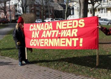 Warmongers not welcome in Halifax!