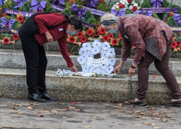 News brief: Group lays white poppy wreath at Halifax cenotaph