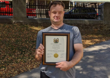 Nova Scotia Advocate journalist Kendall Worth receives yet another award