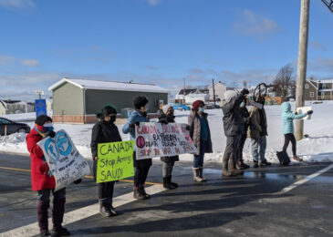 News brief: Halifax peace activists call for end of Canadian weapon sales to Saudi Arabia