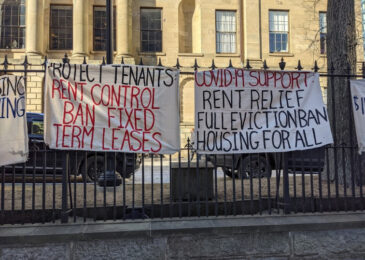Press release: ACORN holding art build to demand government stop COVID-19 evictions