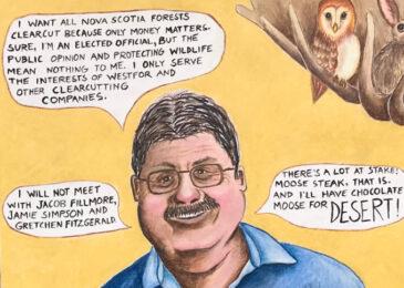 Editorial cartoon: Big Moose-take